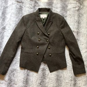 Banana Republic olive tweed jacket